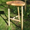 Natural oak barstool.