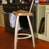 Bar stool with back.