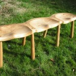 Hand Made 3 Seater Natural Oak Bench