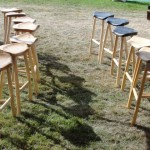 Various bar stools at CLA show 2010.