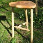 Oak Cradley bar stool.