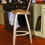 Cradley bar stool with back.