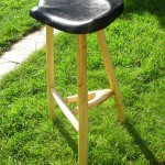 Welsh stick stool with pickled top. £250.