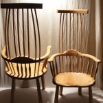 Pair of Welsh stick chairs.